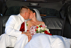 DSC_0481 (D.Clow - Maryland) Tags: wedding red summer groom bride md kiss kissing married sweet tie marriage maryland limo romance tuxedo romantic pasadena lovely tux tender 2010 redtie whitetux glenburnie whitetuxedo