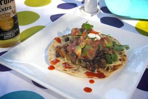 bean tacos!!