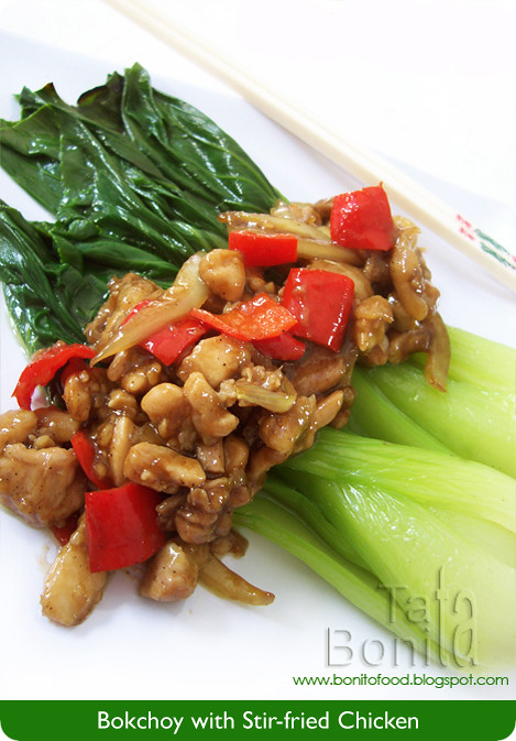 Bokchoy with Stir-Fried Chicken