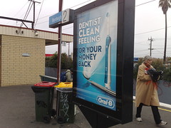 Oral B advert, Bentleigh station