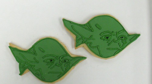 [Image from Flickr]:Star Wars Yoda cookies