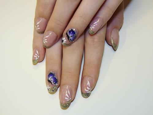 Ezüst és lila találkozása (műköröm) / Meeting of Silver and Lilac (nail art)