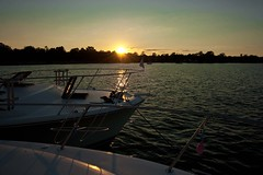(Sal.R <www.replayimage.com>) Tags: sunset summer sky cloud lake toronto water up clouds canon person stand hand upsidedown yacht north tube lakes down handstand float upside 1022 cottagelife