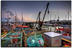 Crayfish Nets (smee.bruce) Tags: photoshop sunrise canon southafrica harbour capetown 5d hdr gordonsbay westerncape cs4 photomatix scottkelby 3exp gowideorgohome worldwidephotowalk stevecraneswalk