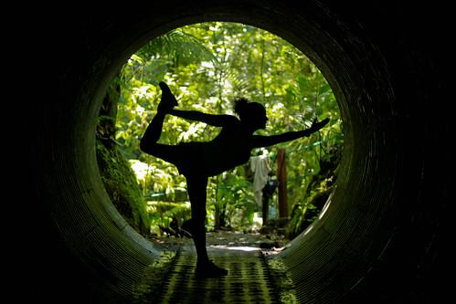 Natarajasana tunnel.
