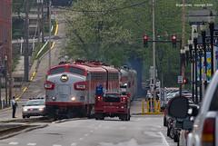 RJC 1940-1 FrankfortKY 5-2-09 (CSX4500) Tags: railroad train canon rj trains passenger coveredwagon fp7 kentuckyderby rjc emd corman rjcc funit eos30d cabunit derbytrain derbyspecial ef100400lf4556is