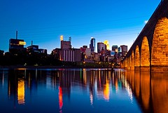 Minneapolis Blue Hour (Doug Wallick) Tags: bridge mill lines minnesota stone skyline museum night reflections river mississippi ruins colorful exposure theater arch power sundown district magic minneapolis historic hour manuel riverfront guthrie lightroom stonearch a230 platinumheartaward mygearandmepremium mygearandmebronze mygearandmesilver mygearandmegold mygearandmeplatinum