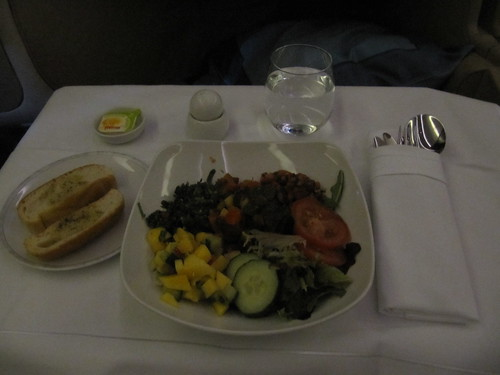 singapore airlines vegan dinner