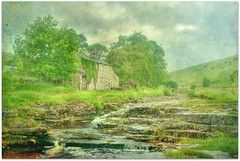 The River Wharfe ~ Yorkshire (~ paddypix ~) Tags: trees house green clouds river yorkshiredales wharfe northernengland yockenthwaite langstrothdale limestonesteps