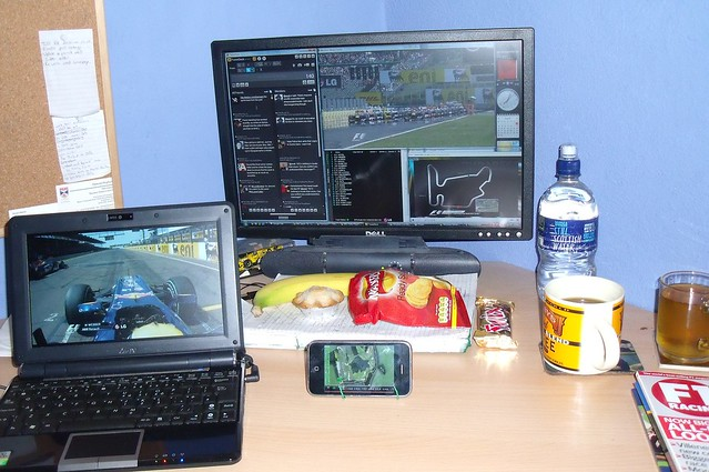 How I watch F1 (Hungary 2010 spec)
