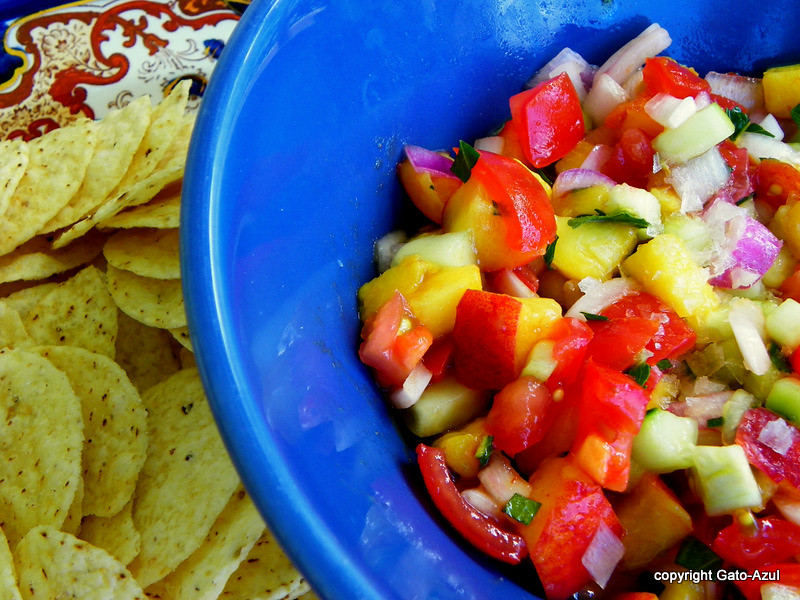 Peach & Mint Salsa