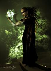 [199/365] : What's your game? (Arisu Saktos) Tags: selfportrait photomanipulation photoshop nikon energy dress mysterious 365 mage day199 arcane nikond60 arisu 365project 199365 arisusaktos alicjaszymalska