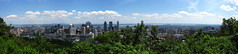 2008 07 12 - 5171-5175 - Montral - View from Parc Mont-Royal (thisisbossi) Tags: urban autostitch canada skyscrapers montral quebec montreal cities parks skylines panoramas hills qubec highrises panoramics parcmontroyal