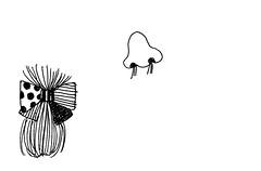 鼻とリボン髪