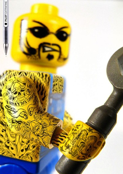 Lego figures with tattoosPilot extrafine