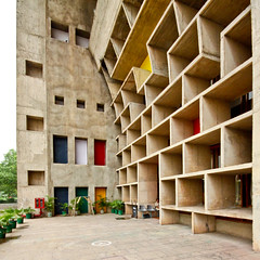 Chandigarh High Court - Le Corbusier (Scott Norsworthy) Tags: india building architecture court concrete soleil high state le government punjab corbusier chandigarh haryana brise