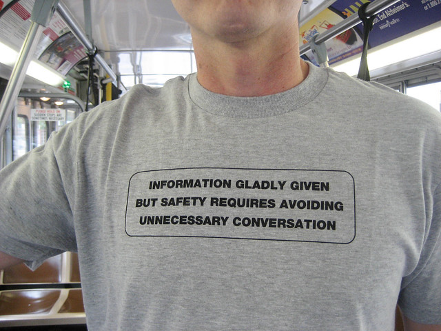 Information Gladly Given But Safety Requires Avoiding Unnecessary Conversation