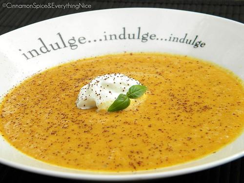 Cantaloupe and Coconut Milk Dessert Soup