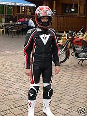 flickr24 (leerkoen) Tags: girl leather lady helmet biker