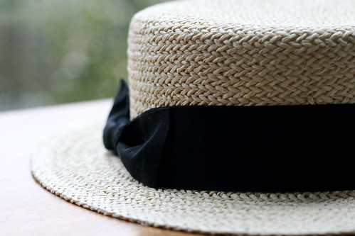 Friday: I bought a straw boater!