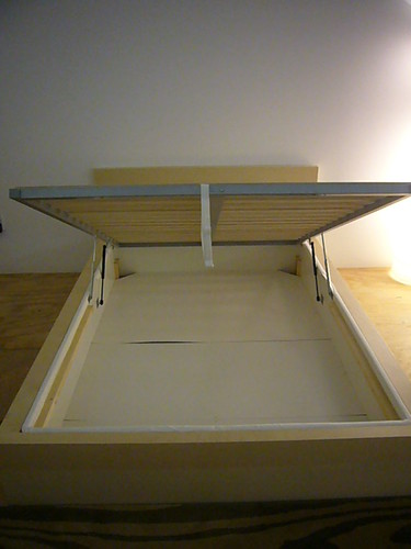 Modern steel bed frame - Ikea Hack Malm W Storage Boxspring Heath Amp The B L T Boys