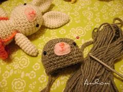 Conejitos en proceso (AmiRomi) Tags: bunny animals doll handmade conejo crochet yarn amigurumi