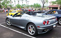Ferrari 360 Spider (Monkey Wrench Media) Tags: show blue red arizona black car silver spider grigio interior side rear convertible 360 az tint f1 ferrari spyder giallo silverstone scottsdale modena carshow exhaust f355 f360 calipers cavallino carsandcoffee redcalipers challengegrill