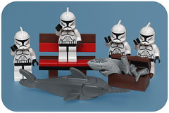Day 365 (pasukaru76) Tags: fish bench starwars lego finished hitchhikersguide canon100mm benchmonday projectclone365