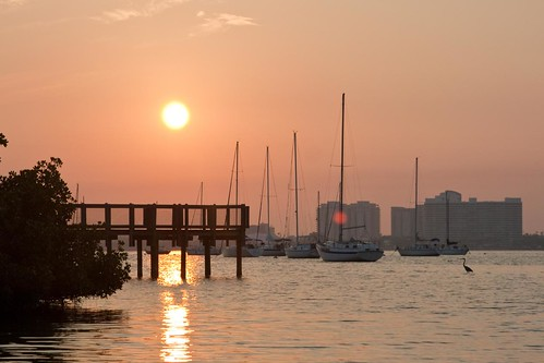 sunrise in Sarasota Bay