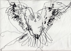 Owl Design (RosieG Embroidery) Tags: illustration typography embroidery rosanna geissler rosieg