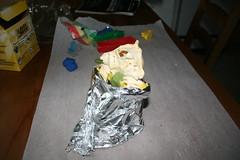 Skull in tin foil