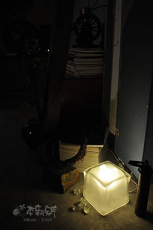 1F的冰塊燈