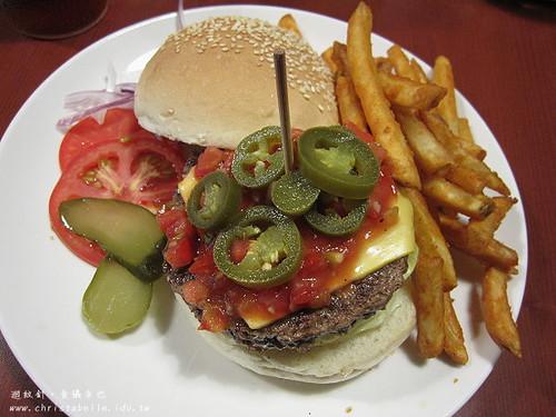 第八街美式漢堡墨西哥辣味牛肉漢堡