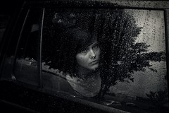 183/365 (amy59421) Tags: portrait bw selfportrait reflection history girl car leaving moody sad shot amy head selfportraits days rainy sp raindrops 365 van wetten skoda octavia amyvanwetten