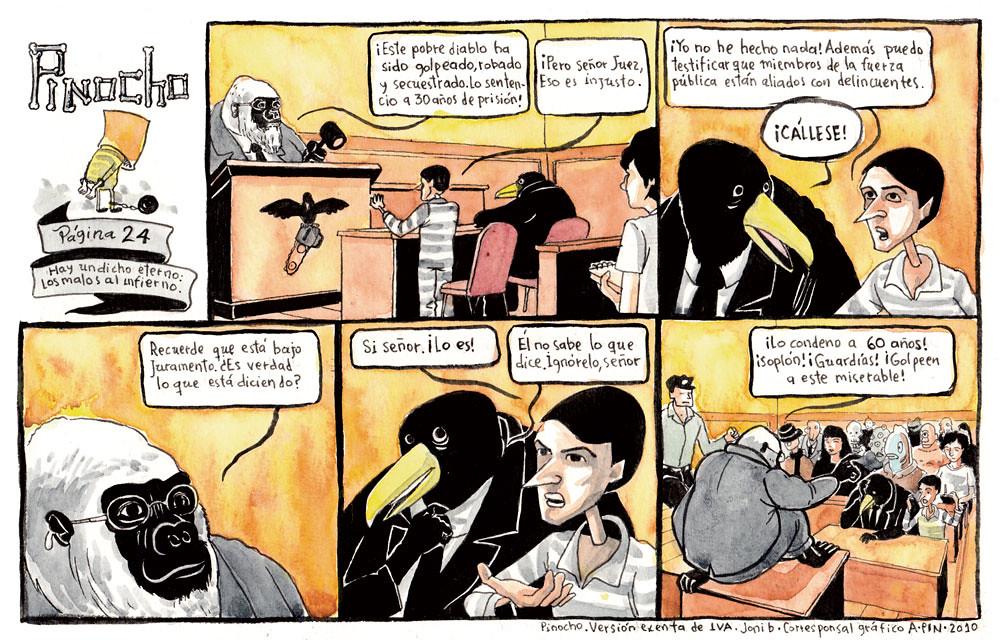 PÁGINA 24: HAY UN DICHO ETERNO: LOS MALOS AL INFIERNO