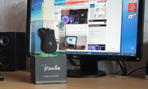 RAZER Mamba Wireless Gaming: bevielis žaidimų pelėnas