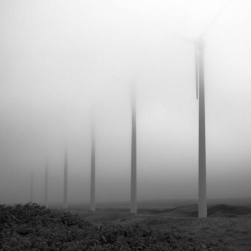 Windmills, Horonobe, Hokkaido, Japan. 2010