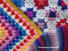 pillow set 041 (ElenaRegina interior designer) Tags: handmade crochet rosa pillows fiori rosso colori celeste cusion cuscini uncinetto