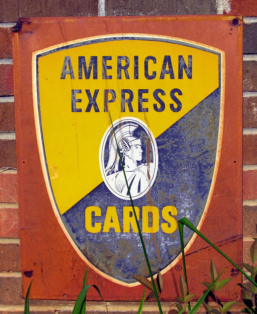 Old American Express Sign