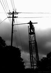 Working High (Ayan11) Tags: cameraphone india electric nokia high streetlight electricity mast bengal risky kharagpur workinghigh ayan11
