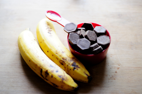 bananas and chocolate