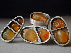 oregon beach agate rings