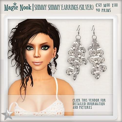 [MAGIC NOOK] Shimmy Shimmy Earrings (Silver)