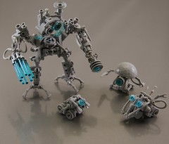 Bots, droids, drones ... thingies (Bart De Dobbelaer) Tags: lego space droid bot prometheus drone