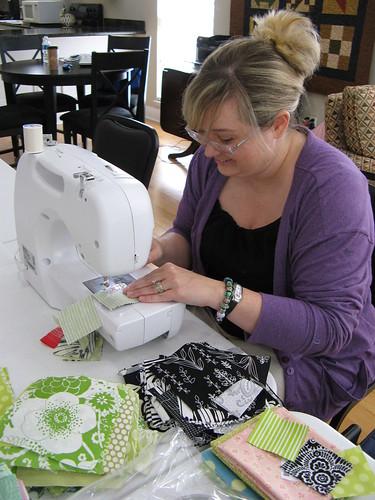 Karen Sewing- NOLA Modern Quilt Guild