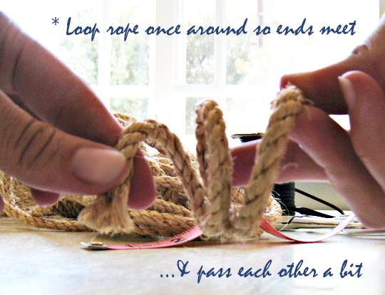 Rope Napkin Rings DIY-Beach Table Decor -3