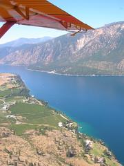 Plane over Lake Chelan