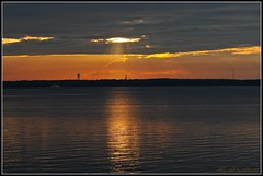 Reflections of gold ~ (**Mary**) Tags: light sunset lake ontario canada reflection water clouds evening dusk greatlakes kingston lakeontario amherstisland blueribbonwinner bayofquinte stellapointamherstisland