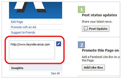 KeyRelevance URL on Facebook