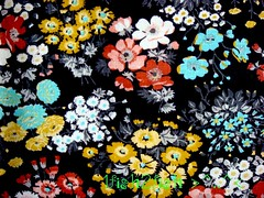 60s Autumn Floral KETTLECLOTH Fabric ~ Muted Brights on Black (WitSister) Tags: pink people dog baby elephant hot flower bunny bird apple floral animal fruit kids century cat children word zoo star big check strawberry mod 60s doll neon stripe lion scenic silk chiffon knit kitty donkey vegetable dot gingham cotton jungle calico crepe carrot pear flannel daisy 70s hippie 50s giraffe woven trippy psychedelic plaid rayon juvenile printed voile mid turnip 30s 40s blend sheer 20s georgette acetate seersucker synthetics plisse